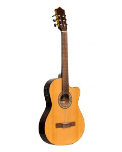 Acoustic-Electric Classic Guitar STAGG SCL60 TCE-NAT